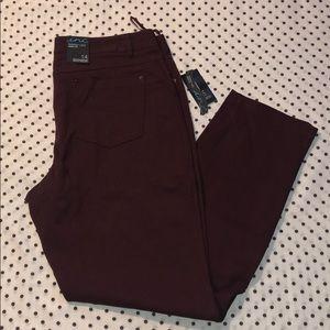 INC skinny leg curvy fit pants size 14